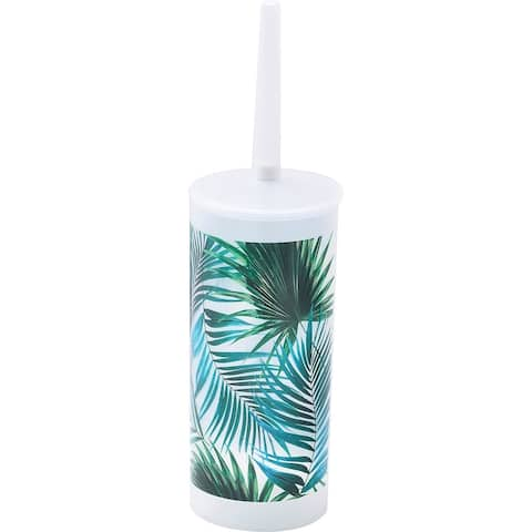 "Tropical Collection Toilet Bowl Brush Holder - 3.94""L x 3.94""W x 13.78""H"