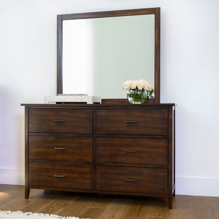 Abbyson Larson Distressed Wood 6 Drawer Dresser and/or Mirror