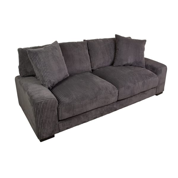 Miraculous Shop Big Chill Ultra Soft Microfiber Sofa Charcoal N A Machost Co Dining Chair Design Ideas Machostcouk