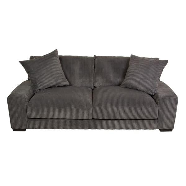 Pleasant Shop Big Chill Ultra Soft Microfiber Sofa Charcoal N A Machost Co Dining Chair Design Ideas Machostcouk