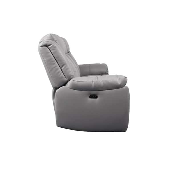 Astounding Shop Kent Microfiber Power Reclining Sofa Gray Free Gamerscity Chair Design For Home Gamerscityorg