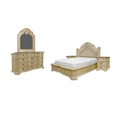 Best Master Furniture 5-Piece Antique Beige Bedroom Set