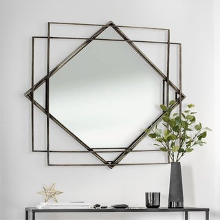 Abbyson Retro Gold Frame Wall Mirror