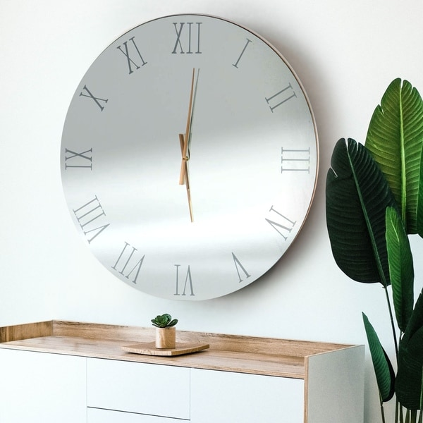 Abbyson Hesby Mirror Wall Clock