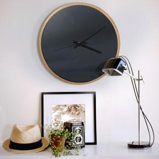 Abbyson Roblar Black and Gold Wall Clock