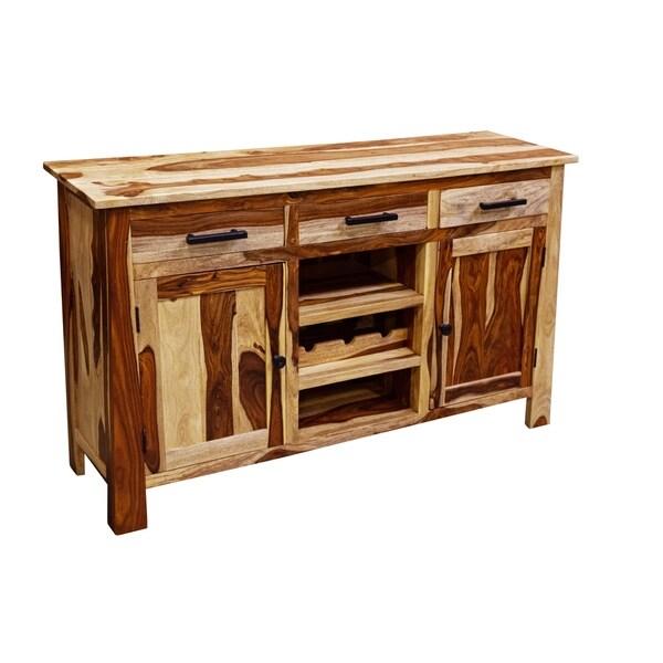 Kalispell Solid Sheesham Wood Sideboard Bar - N/A