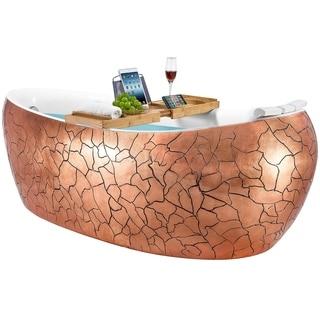 Freestanding Bathtub - 69 Inch Rose Gold Acrylic Bathtub - Stand Alone Tub - Luxurious SPA Soaking