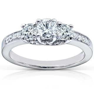 Annello by Kobelli 14k Gold 1/2ct TDW Diamond Engagement Ring