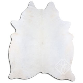 Cowhide Area Rugs NATURAL HAIR ON COWHIDE WHITE 2 - 3 M GRADE B size ( 22 - 32 sqft ) - Big