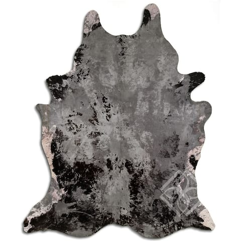 Cowhide Area Rugs ACID WASHED HAIR ON COWHI DISTRESSED GREY 3 - 5 M GRADE A size ( 32 - 45 sqft ) - Big