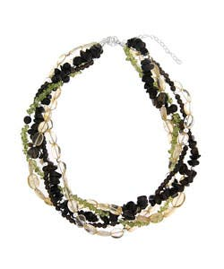 Glitzy Rocks Smokey Quartz Citrine Peridot Twisted Necklace|https://ak1.ostkcdn.com/images/products/2911087/Glitzy-Rocks-Smokey-Quartz-Citrine-Peridot-Twisted-Necklace-P11080376.jpg?impolicy=medium