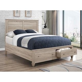 Channing Natural Oak 2-drawer Platform Storage Bed
