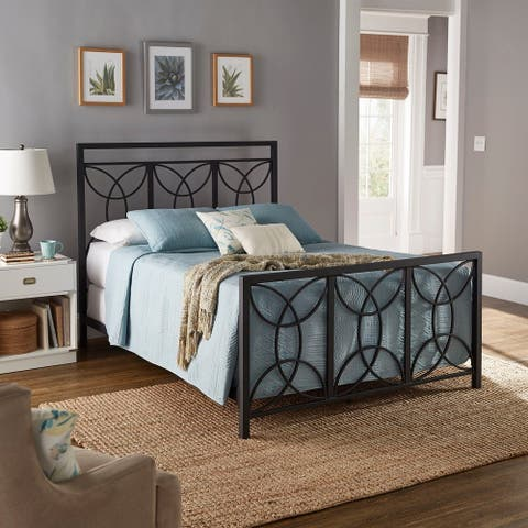 Flossie Black Metal Queen Bed by iNSPIRE Q Classic