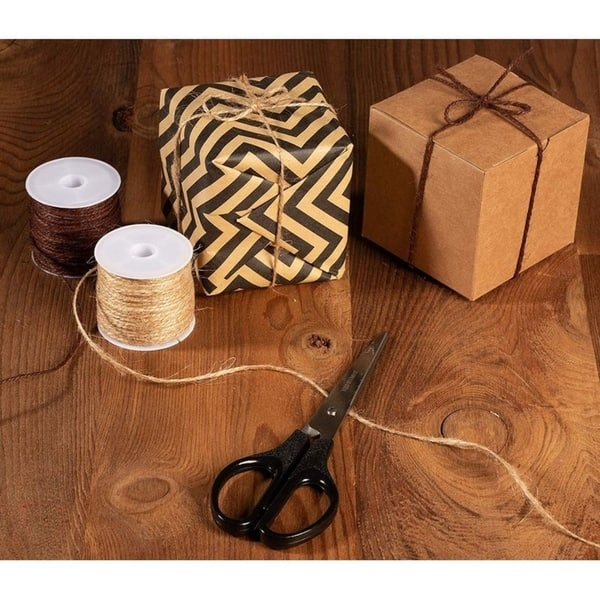 DIY Crafts Artworks Diealles Shine Natural Jute Twine 2mm Bottles Decorations and Gift Wrapping Twine 14 Roll 3 Ply Jute Twine String for Crafts 382 Yards in Total