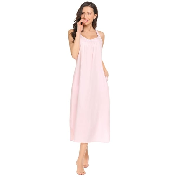 Relevant Products Womens One Size Pink Embroidered Night Shirt Gown New