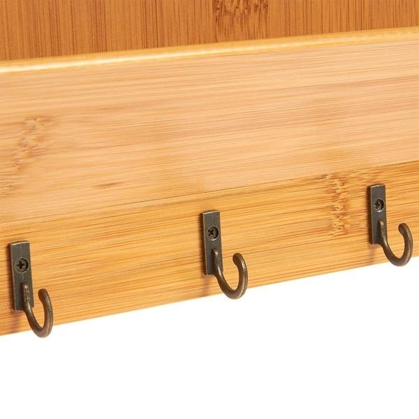 Bamboo Mail Holder Wall Mounted