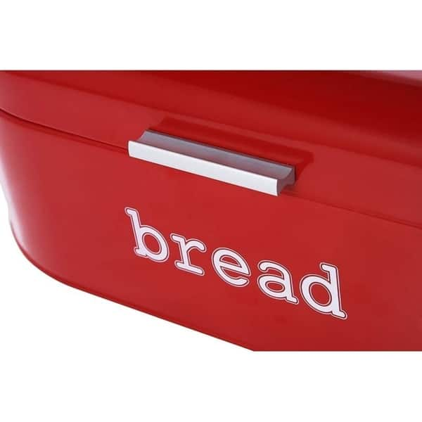 Large Metal Bread Box For Kitchen Counter Bread Food Storage Bin With Lid Red Overstock 29115816