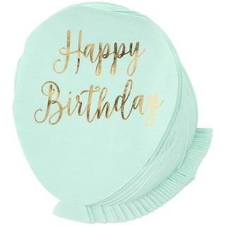 Juvale Happy Birthday Balloon Paper Party Napkins, 3 Ply (50 Pack)