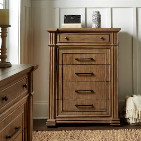 Mauer Light Distressed Natural Finish Chest by iNSPIRE Q Artisan