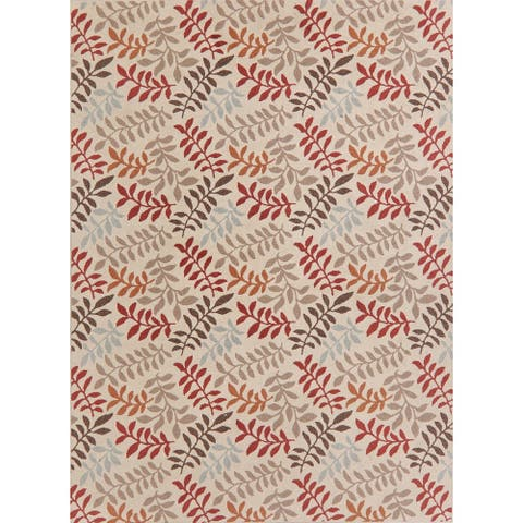 "Agra Transitional Polyester & Jute Turkish Floral Botanical Area Rug - 10'6"" x 7'10"""