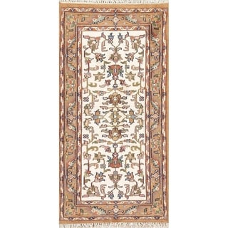 Traditional Mahal Carpet Hand Knotted Wool Indian Oriental Rug