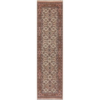 Traditional Persian Carpet Hand Knotted Wool Indian Oriental Rug - 9' 7'' X 2' 7''
