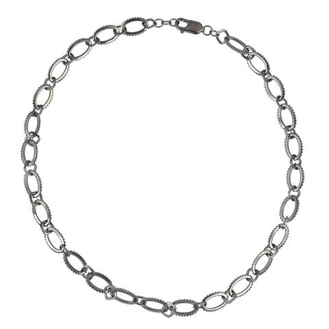 925 Sterling Silver Link Chain Necklaces Jewelry With Free Jewelry Box