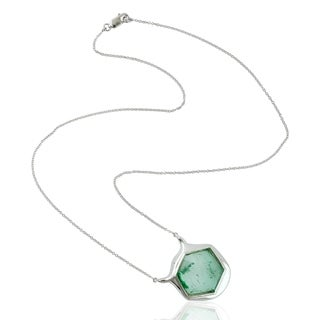 18Kt Gold 0 Designer Emerald Princess Necklace Precious Stone Jewelry