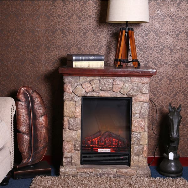 Shop Copper Grove Cricova Poly Stone Electric Fireplace Heater