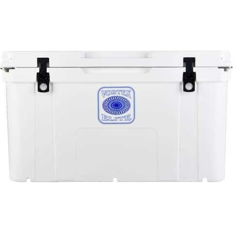 Vortex Elite Series 78-Quart Wheel-Kit Ready Rotational-Molded Customizable Cooler System in White