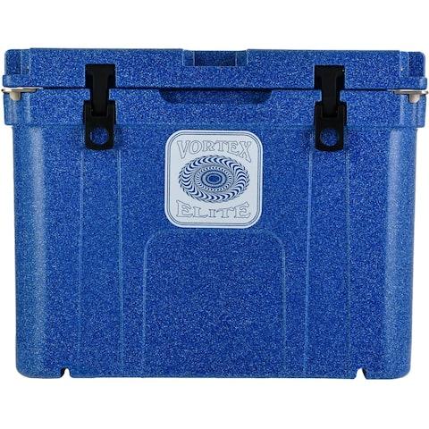 Vortex Elite Series 55-Quart Wheel-Kit Ready Rotational-Molded Customizable Cooler System in Azurite