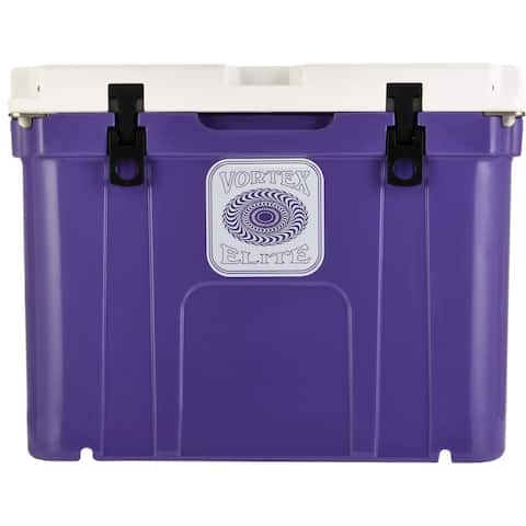 Vortex Elite Series 55-Quart Wheel-Kit Ready Rotational-Molded Customizable Cooler System in Ultra Violet