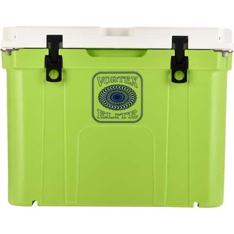 Vortex Elite Series 55-Quart Wheel-Kit Ready Rotational-Molded Customizable Cooler System in Lime