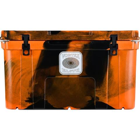 Vortex Elite Series 78-Quart Wheel-Kit Ready Rotational-Molded Customizable Cooler System in Blaze Orange Camo