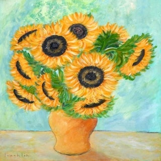 CANVAS Sunflowers in a Vase by Brendan Loughlin Art Painting Reproduction