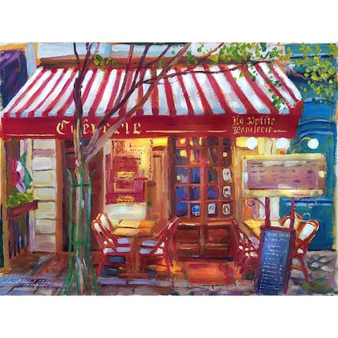 CANVAS Le Petit Bistro Painting by David Lloyd Glover Art Painting Reproduction