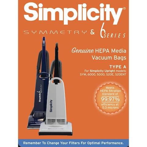 SAH-6 Simplicity Vacuums S20EZM HEPA Media Replacement Bags (Set of 6)