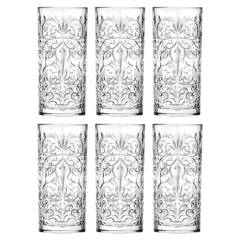Majestic Gifts Inc. S/6 Glass Highball Tumblers