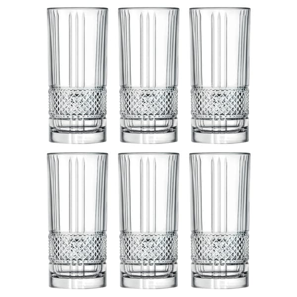 Majestic Gifts Inc. S/6 Glass Highball Tumblers. Opens flyout.