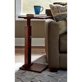 Solid Wood Adjustable Server - 16 inches x 14 inches x adj 24-28 inches