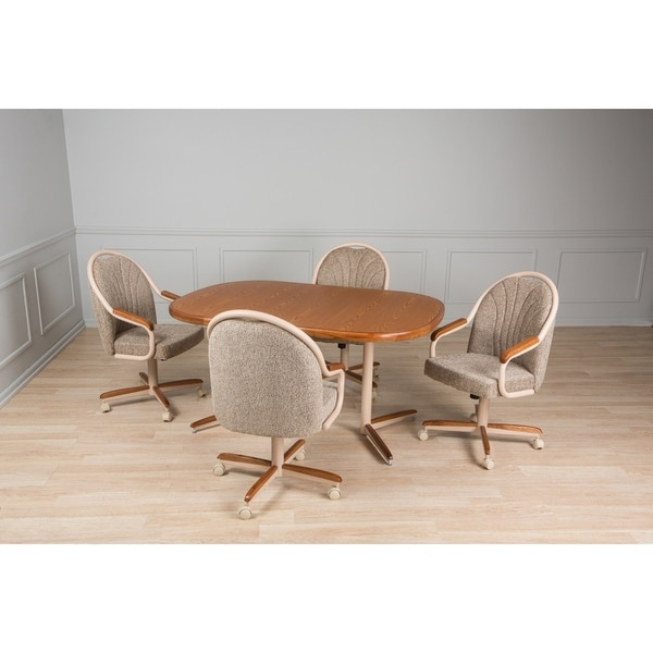 Casual Dining Brown 5 piece Table and Chairs Set