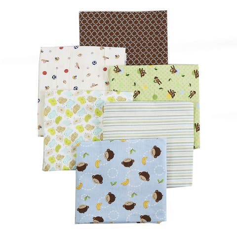 Cozy Line 6-Pack Unisex Baby Cotton Flannel Receiving Blankets - N/A