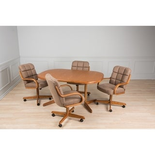 Casual Dining Micro Brown 5 piece Table and Chairs Set