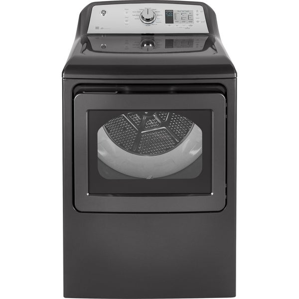 GE 7.4 cu. ft. Capacity aluminized alloy drum Electric Dryer with 4.5 cu. ft. Capacity Washer with Stainless Steel Basket