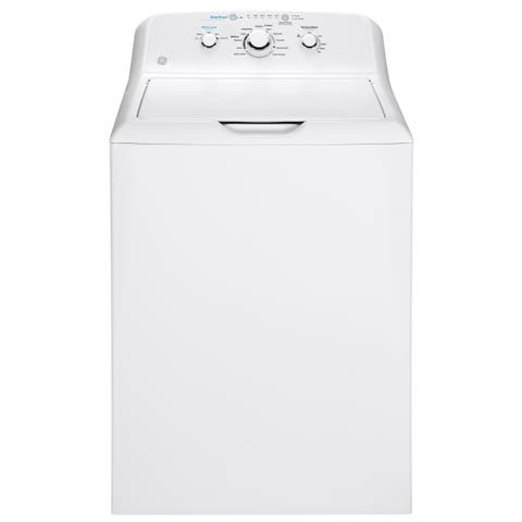GE 4.2 cu. ft. Capacity Washer with Stainless Steel Basket with GE 7.2 cu. ft. Capacity aluminized alloy drum Electric Dryer