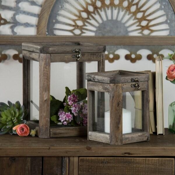 Wooden candle holder (Set/2)