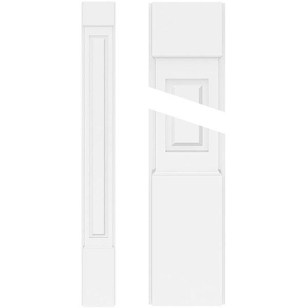 Raised Panel PVC Pilaster w/Standard Capital & Base (Pair)