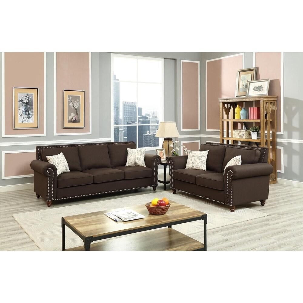 Alcott Hill Connelly Sofa & Loveseat Sofa Set   Item# 8187