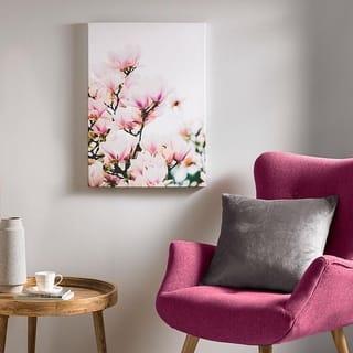 Magnolia Blossoms Printed Canvas Wall Art - Pink