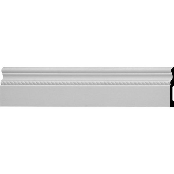 """6""""H x 5/8""""P x 94 1/2""""L Oslo Rope Baseboard Moulding"""